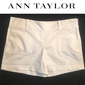 Ann Taylor White Cotton Shorts 12